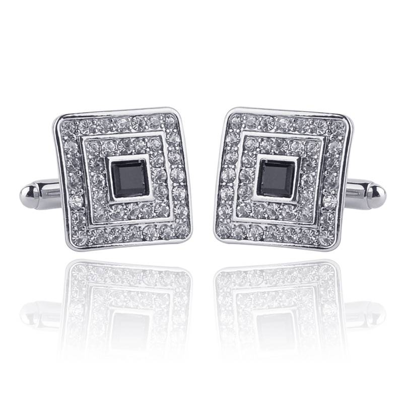 LUCAS – Men's Luxury Rhinestone Crystal Square Cufflinks