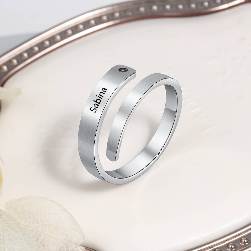 Personalized Spiral Stainless Steel Ring