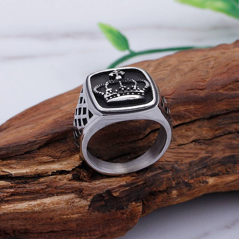 Men's Stylish Retro Stainless Steel Ring
