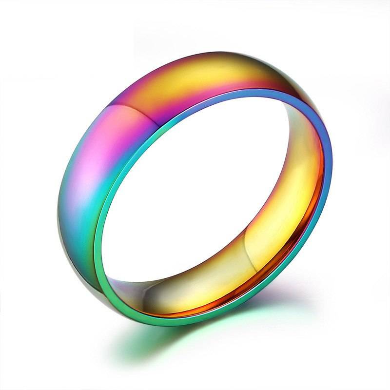 Colorful Stainless Steel Couple Rings
