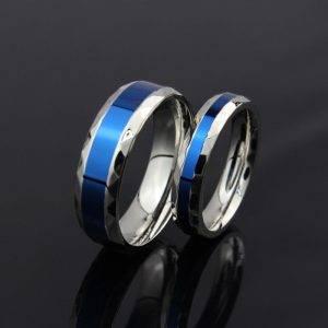 Enameled Stainless Steel Couple Rings