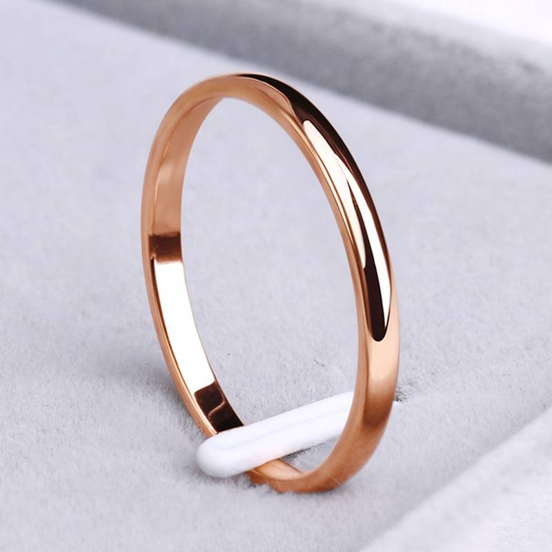 Stainless Steel Classic Wedding Band – VIOLA
