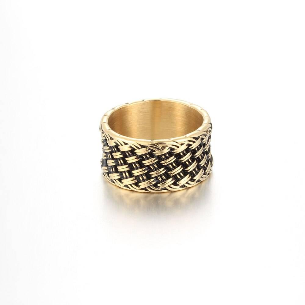 Stainless Steel Interwoven Ring For Men