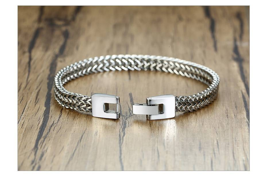 Oxidized Stainless Steel Foxtail Chain Bracelet For Men – MAX Uncategorized Bracelets Men Necklaces Men's Jewellery 8d255f28538fbae46aeae7: 12mm Silver|6.5 Lobster Black|6.5 Lobster Gold|6.5 Lobster Silver|6.5mm Black|6.5mm Gold|6.5mm Silver|6.5mm Vintage|8.5mm Silver|8mm Vintage